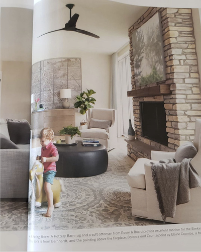 Painting featured in Colorado Homes and Lifestyles Magazine